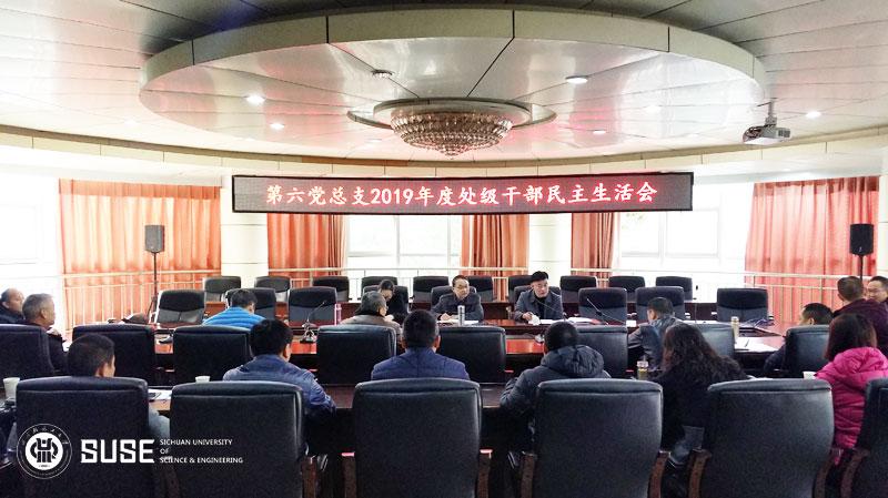 肖兴政副校长指导第六党总支2019年处级...